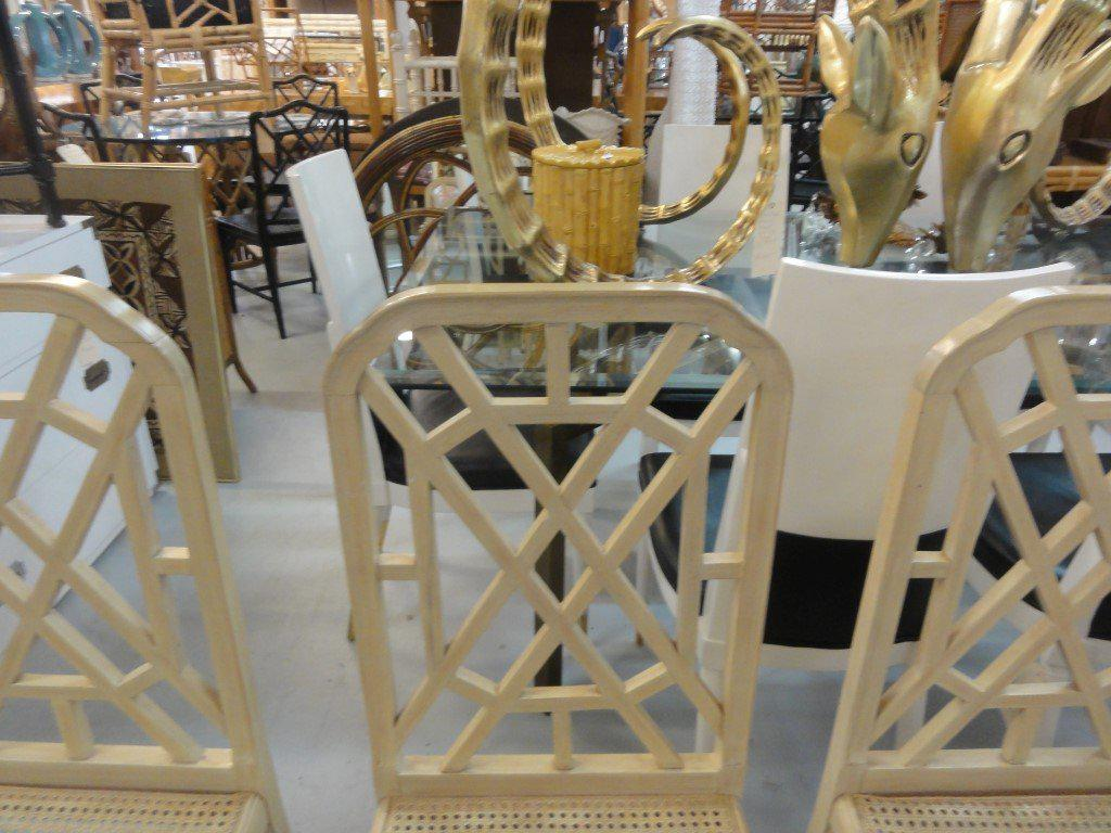 Superbe Palm Beach Regency Fretwork Chairs   Set Of 6   Image 7 Of 11
