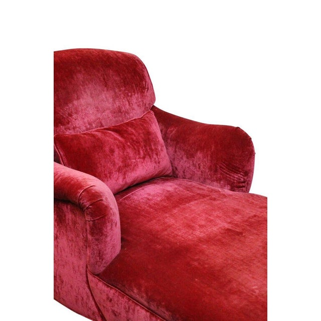 Fuchsia Chaise Lounge - Image 3 of 3