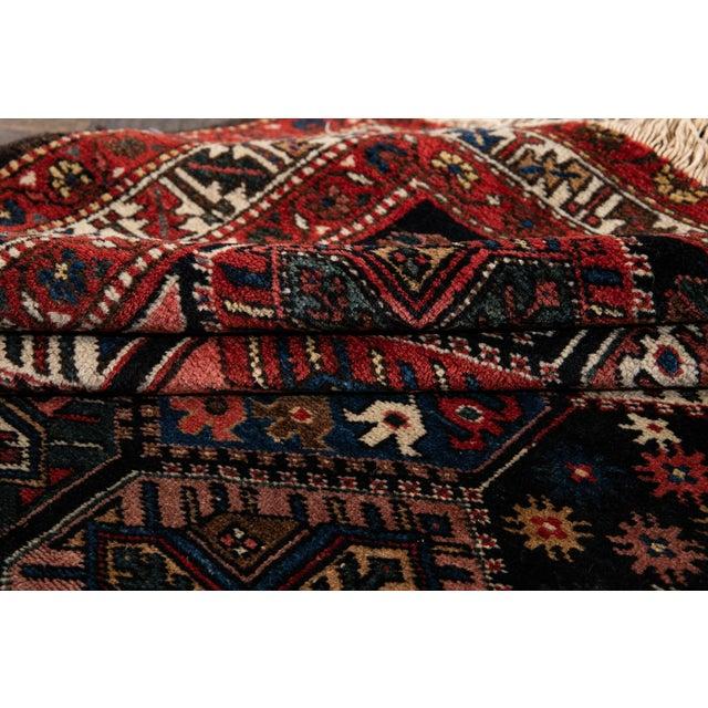 Vintage Bakhtiari Wool Rug 4'4'' X 7'2'' For Sale - Image 4 of 12
