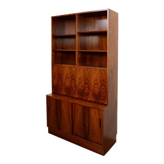 Danish Modern Hundevad Rosewood Wall Unit Desk For Sale