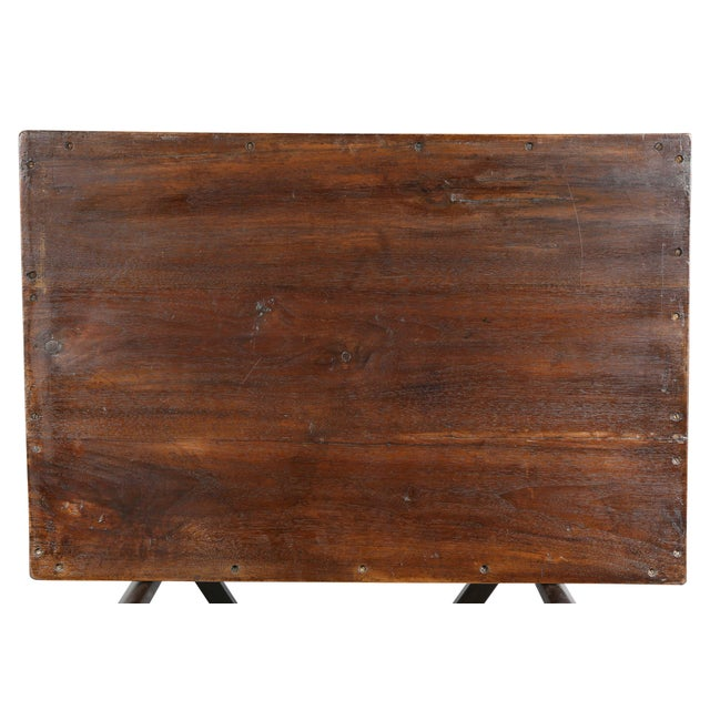 Victorian Mahogany Tray Table on Stand For Sale - Image 4 of 8