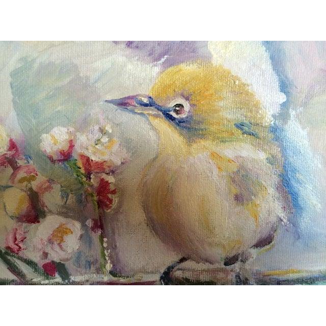 Nancy T. Van Ness Bird on Branch Oil Painting Print - Image 6 of 10