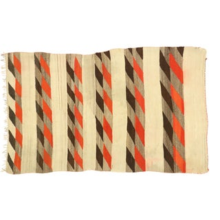Vintage Native American Navajo Kilim Rug With Two Grey Hills Style - 03'04 X 05'04 For Sale