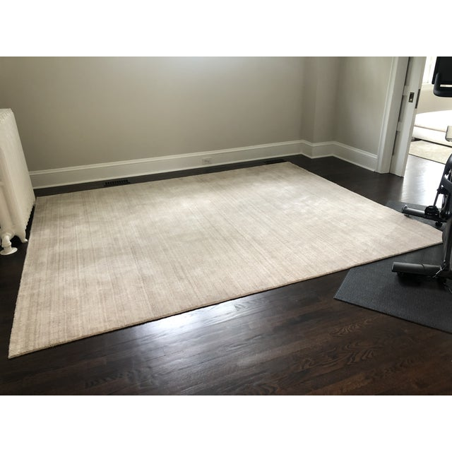 Serena & Lily Handknotted Champagne Area Rug For Sale In Philadelphia - Image 6 of 7
