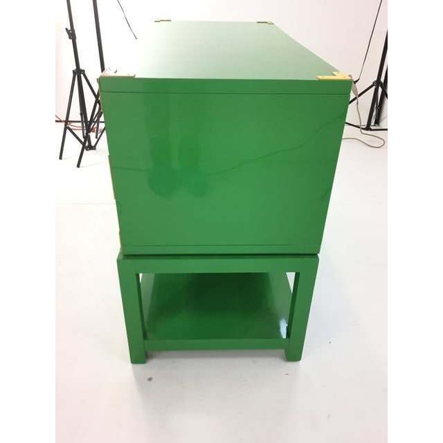 Bungalow 5 Bungalow 5 Green Lacquer Tansu Console Chest For Sale - Image 4 of 8
