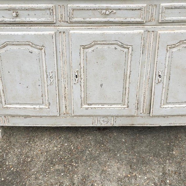 White 18th Century Country French Louis XVI Painted Buffet For Sale - Image 8 of 13