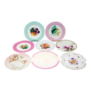 Antique Bavarian China Salad Plates - Curated Set of 8