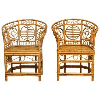 Brighton Pavilion Style Chinoiserie Chairs - Pair