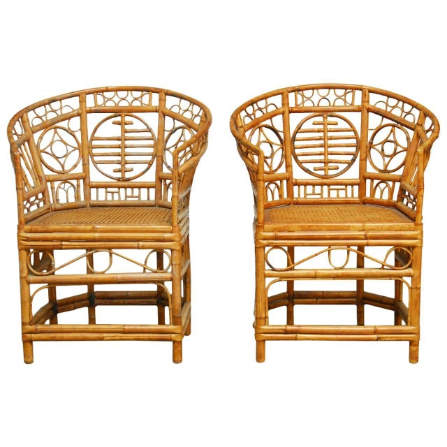 Brighton Pavilion Style Chinoiserie Chairs - Pair For Sale
