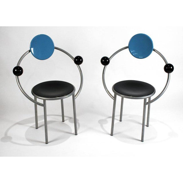 Memphis Group 1980s 'First Chairs' by Memphis Milano Designer Michele De Lucchi - A Pair For Sale - Image 4 of 9