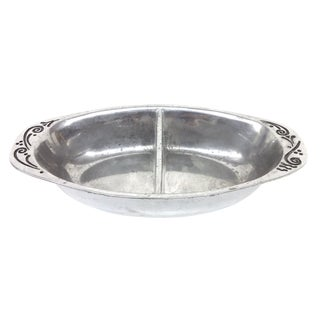 Vintage Lenox Aluminum Divided Serving Dish For Sale