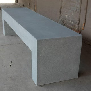 Cast Resin 'Aspen' Bench, Gray Stone Finish by Zachary A. Design Preview