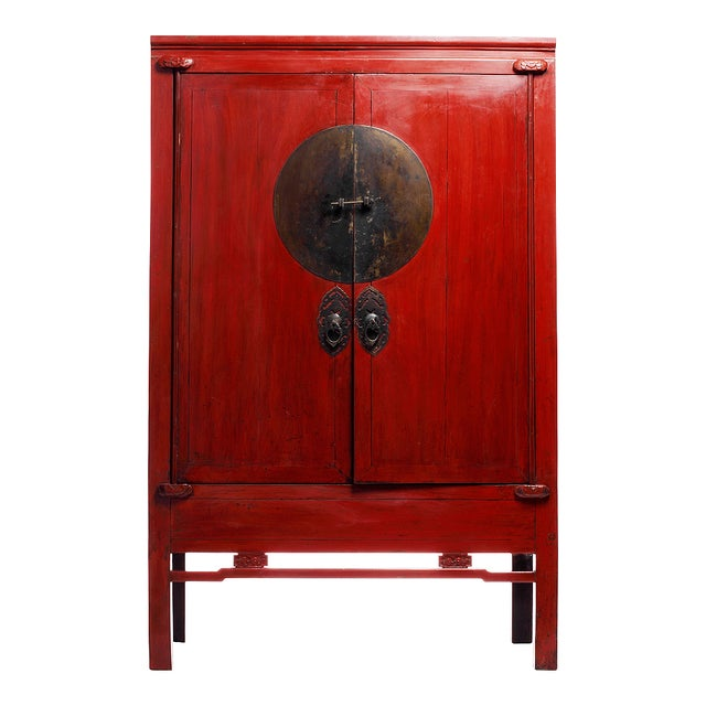 Antique Chinese Wedding Cabinet - Image 1 of 4
