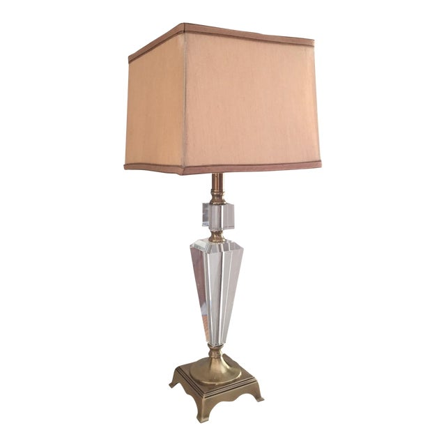 Dale tiffany crystal brass table lamp chairish dale tiffany crystal brass table lamp aloadofball Gallery