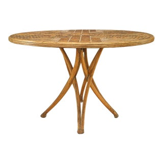 Rustic Continental Style Stripped Dining Table For Sale