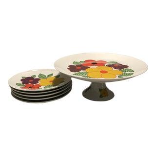 Vintage Schumann Arzberg Cake Plate - Set of 6 For Sale