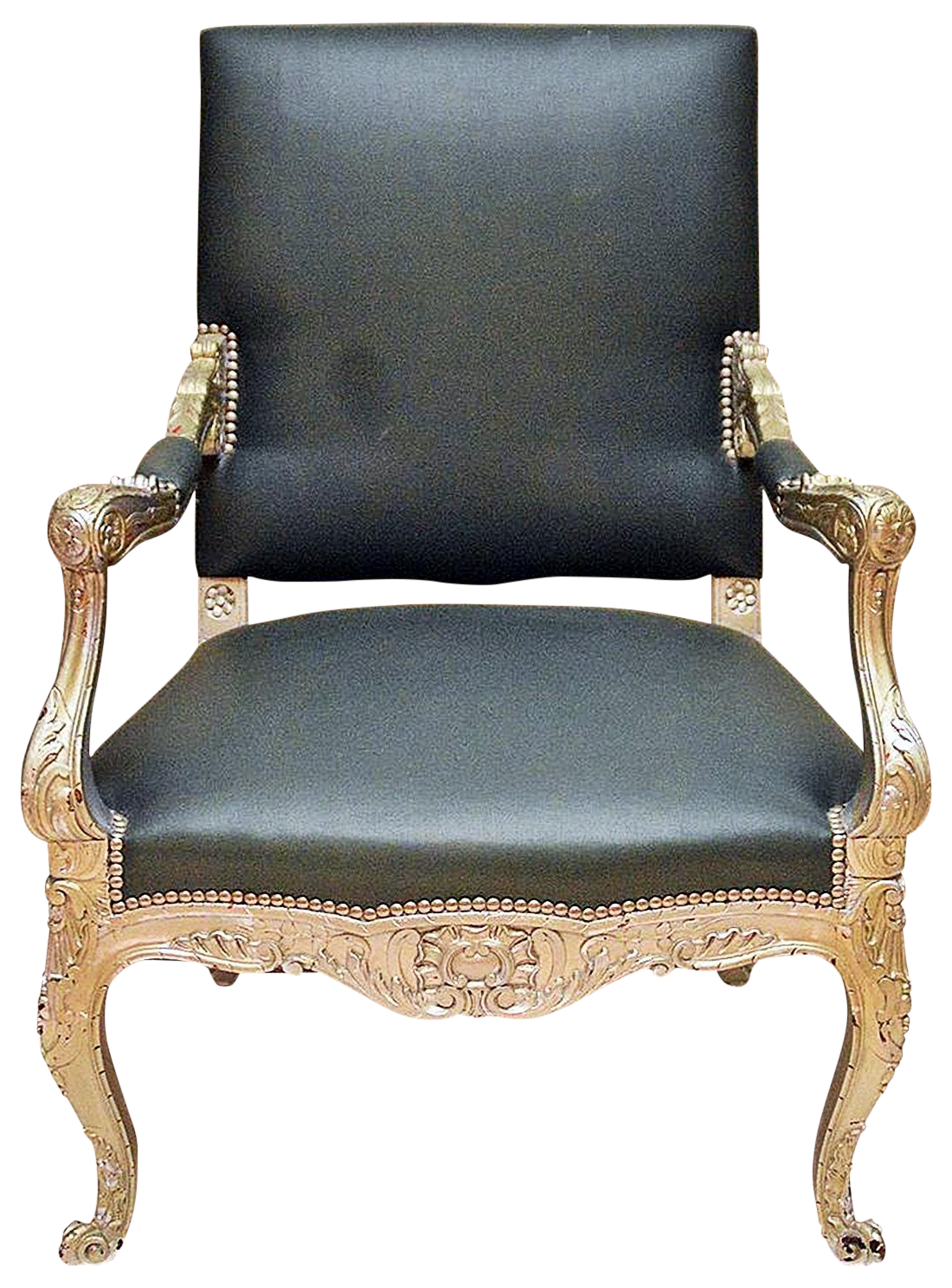 Etonnant Antique French Silver Armchair For Sale
