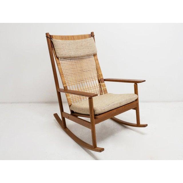 Wood 1950s Vintage Hans Olsen Rocker For Sale - Image 7 of 7