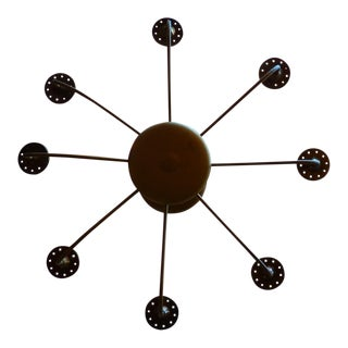 Atomic Style Gold Finished Chandelier