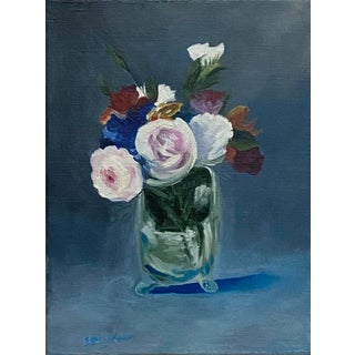 Contemporary Floral Still Life Oil Painting For Sale