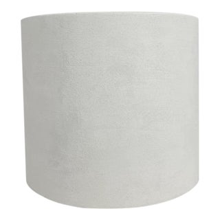 Otto Troweled Texture Plaster Cylinder Side Table For Sale