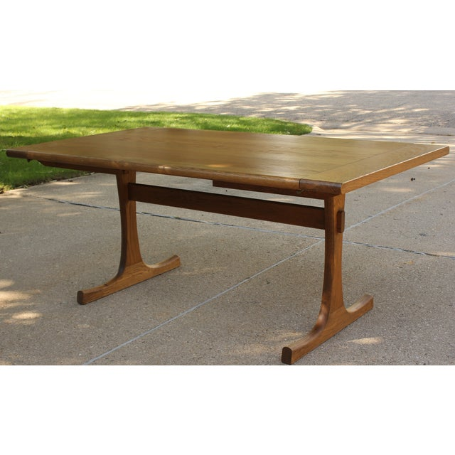 Conant Ball Oak Dining Table and 8 Chairs For Sale - Image 5 of 11