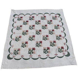 Carolina Lily Applique Quilt For Sale