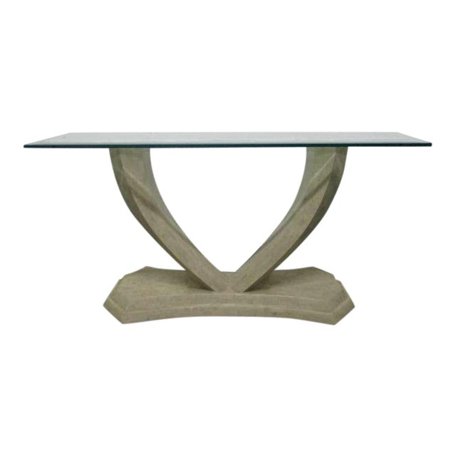 Maitland Smith Tessellated Console Table For Sale