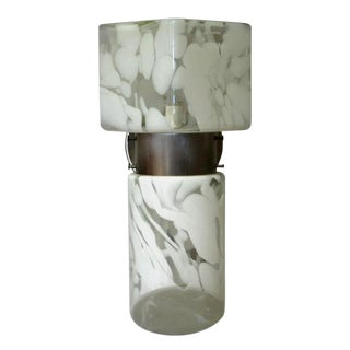 1970s Vintage Single Italian Milky Glass Sconce Final Clearance Sale For Sale