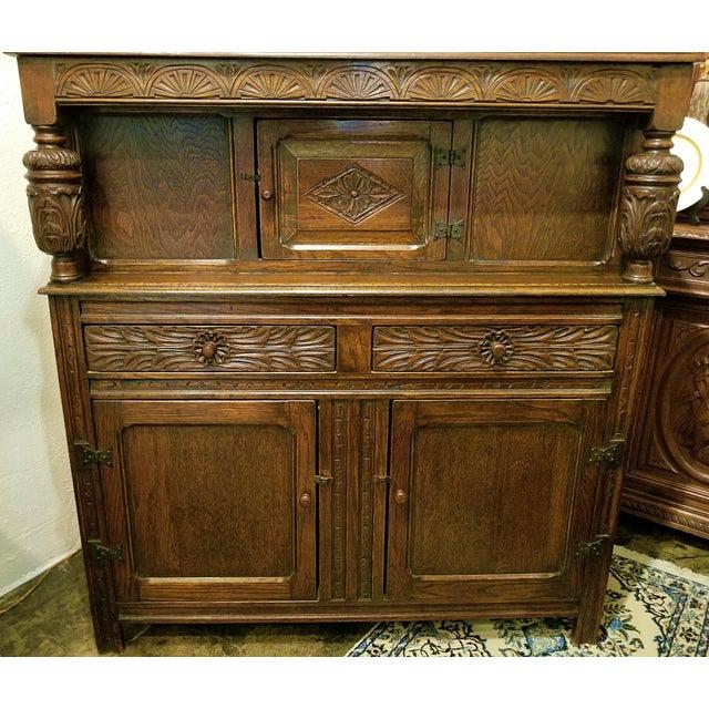 Renaissance Revival English Oak Renaissance Revival Cabinet For Sale - Image 3 of 13