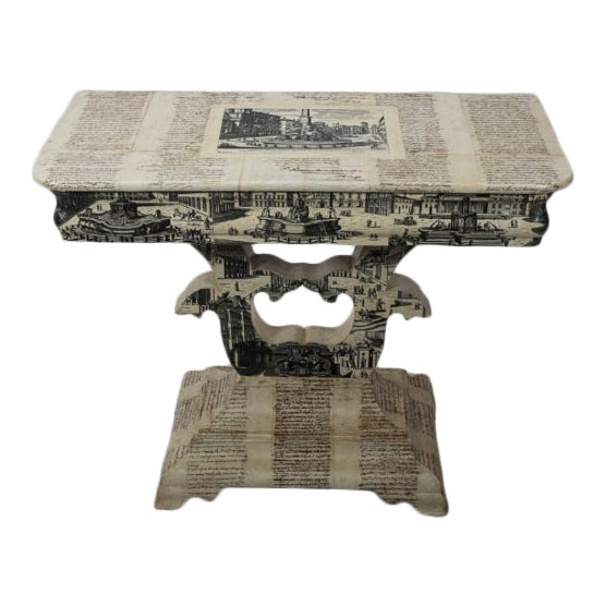 Empire Style Decoupage Game Table For Sale