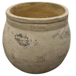 Antique Spanish Terracotta Washing Urn From Gerone, Circa 1900 For Sale
