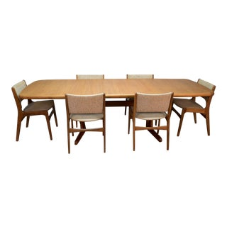 Danish Mid-Century Modern Am Mobler Teak Dining Table and Six Erik Buch Chairs For Sale