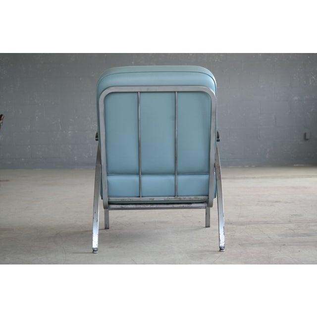 Chrome Retro Mid Century Modern Art Deco Chair For Sale - Image 7 of 8
