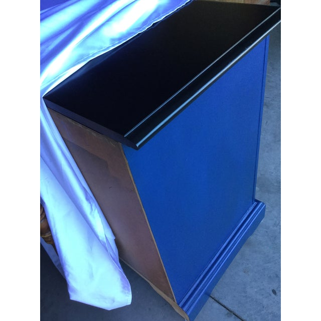 Blue 1970s Vintage Dixie Lacquered Blue and Black Dresser For Sale - Image 8 of 11
