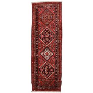"Vintage Wool Persian Meshkin Runner - 3'10"" x 12'10"" For Sale"