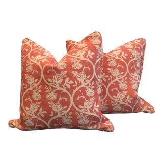 "Kathryn M. Ireland ""Brianza Rough"" Fabric Custom-Tailored Pillows - A Pair For Sale"