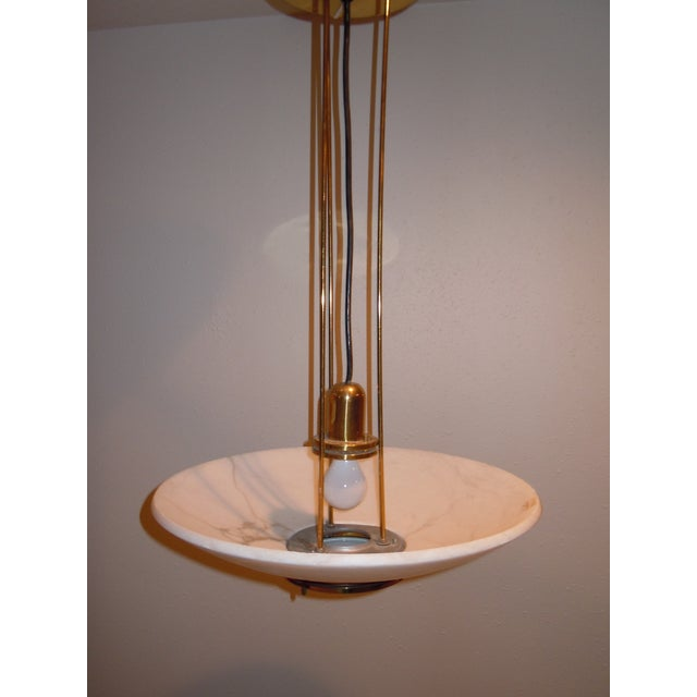 Lightolier Alabaster Pendant Light - Image 6 of 9