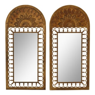 Labarge Arched Top Large Pier Mirrors - a Pair For Sale