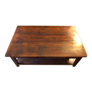20th Century Rustic Wooden Coffee Table For Sale