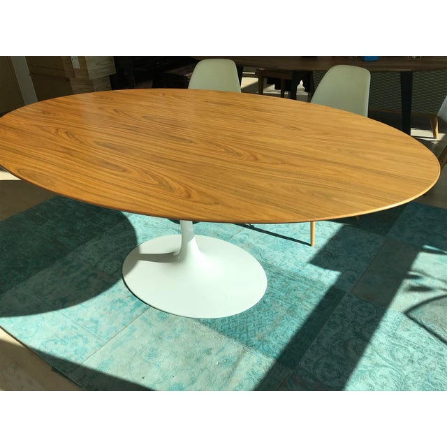 Knoll Tulip Saarinen Dining Table Oval Chairish - Saarinen oval dining table 78