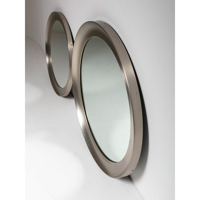 """Modern Pair of """"Narcisso"""" Wall Mirrors by Sergio Mazza for Artemide For Sale - Image 3 of 6"""