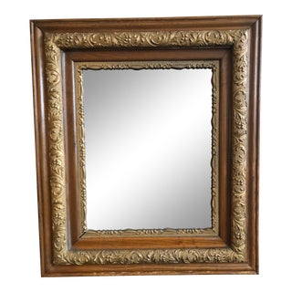 Antique Turn of the Century Wood and Gilded Wall Mirror For Sale