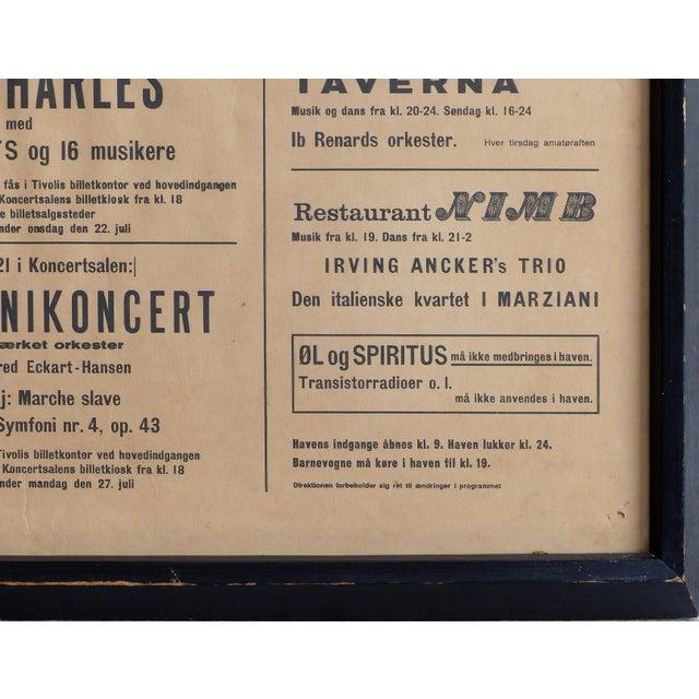 1964 Concert Poster From the Tivoli Gardens in Copenhagen, Denmark For Sale In Miami - Image 6 of 9