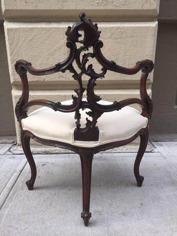 French Antique Corner Chair For Sale   Image 4 Of 7