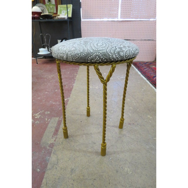 1940s Vintage Antique Round Stool For Sale - Image 5 of 5