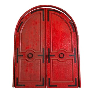 Antique Red Doors - A Pair For Sale