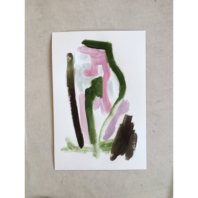 Original Abstract Painting on Paper No. 123 - Image 3 of 4