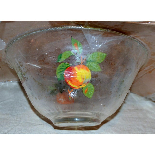 Traditional Vintage Glass Fruit Dish For Sale - Image 3 of 6