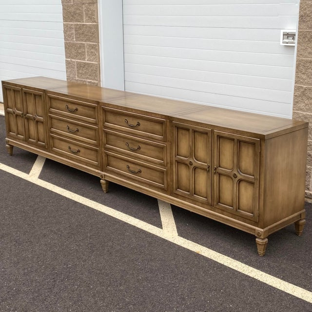 """Mid-Century Modern Modular 129"""" Credenza by Union-National Inc. For Sale - Image 3 of 13"""
